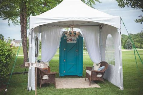 bathrooms for outdoor weddings outdoor wedding bathroom tent wedding pinterest