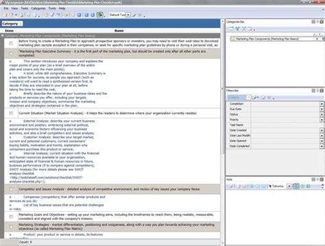 marketing deliverables template marketing plan checklist to do list organizer