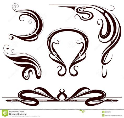 design elements of art nouveau art nouveau design elements stock vector illustration of