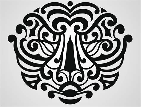 polynesian face tattoo designs hawaiian tattoos for that signify for the