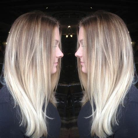 platinum blonde and brown ombre 447 best ombre hair images on pinterest hair colors