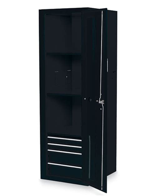 locker 4 drawers 3 shelves gloss black