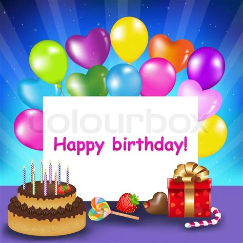 What Colour Is Orange by Decoration Ready For Birthday With Birthday Cake With