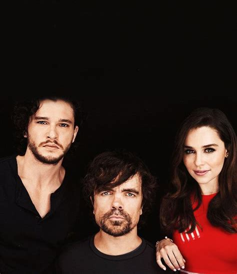cast of game of thrones midget kit harington peter dinklage and emilia clarke for