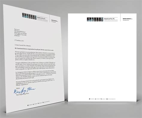 business letter design bold serious business letterhead design for a company by