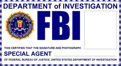 fbi id card template free fbi badge supernatural an eye