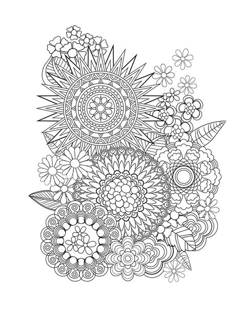 floral designs coloring pages flower designs i create coloring books to stimulate