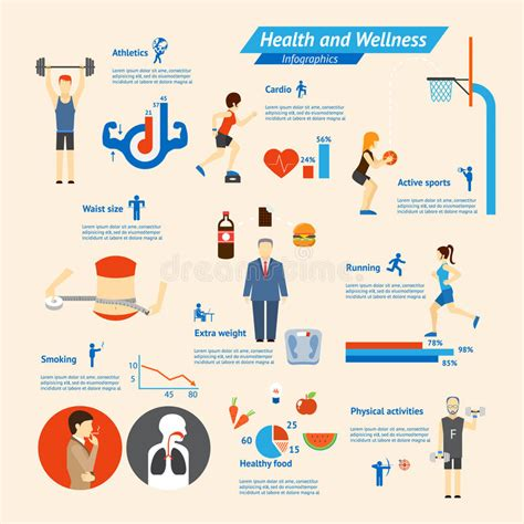 Fitness Infographics Stock Vector Image 42943778 Fitness Infographic Template