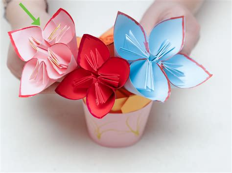 How To Make Origami Flower Bouquet Step By Step - how to make a paper flower bouquet with pictures wikihow