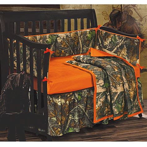 orange camo bed set baby oak camo baby crib bedding set camouflage