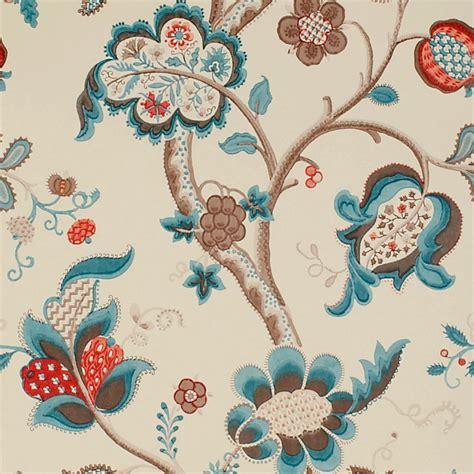 new classic wallpaper collection roslyn wallpaper teal cherry dviwro105 sanderson