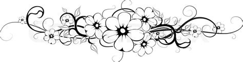 orizontal blume tattoo schwarz interpretatiosn