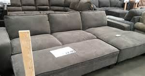 costco sofa sectional chaise sectional sofa with storage ottoman costco weekender