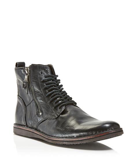 varvatos boots mens varvatos barrett side zip boots in black for lyst