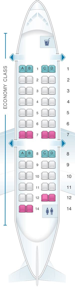 crj 100 seating seat map delta air lines bombardier crj 200 expresjet