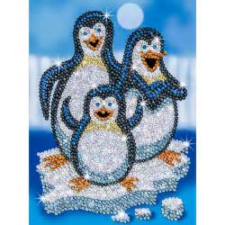 kinderzimmer bild pinguin paillettenbild f 252 r kinder pinguine