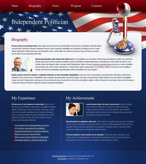 Free Politics Website Template Political Caign Website Templates Free