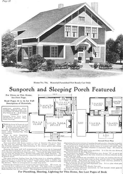 1918 Gordon Van Tine Model No 716 Two Story Arts Gordon Tine House Plans