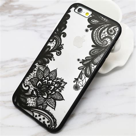 design henna phone case sexy lace floral paisley flower mandala henna clear case