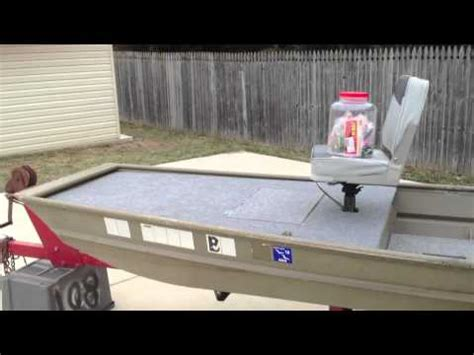 12 foot jon boat custom 12 foot jon boat casting deck modification youtube