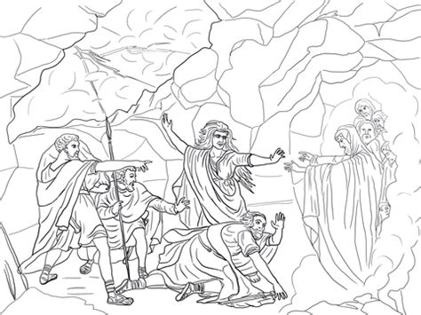King David Outline by Saul And Witch Of Endor Coloring Page Free Printable Coloring Pages