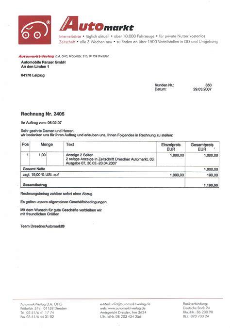 Rechnung Für Schweiz Ohne Mwst Gutachter Erz 228 Hlen