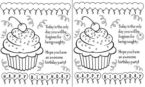 black and white birthday card template free 5 best images of black and white printable birthday cards