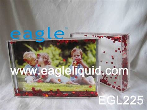 plastic acrylic liquid paper photo frame snow ball water