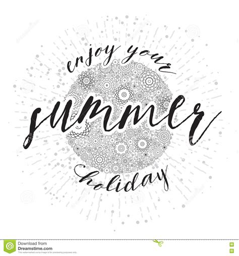 Enjoy Summer Black enjoy the summer lettering vector cartoondealer