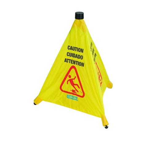 36 in banana cone multi lingual caution floor sign