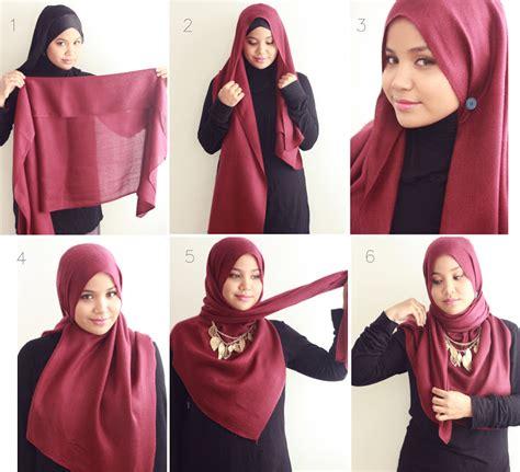 tutorial wearing pashmina how to wear hijab styles