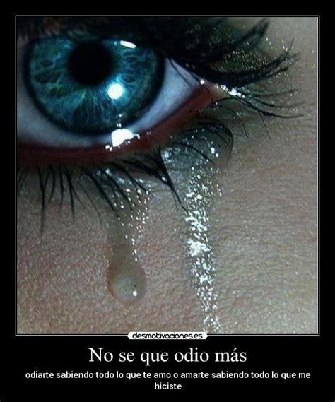 imagenes de amor tristeza y odio no se que odio m 225 s desmotivaciones