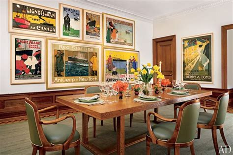Dining Room Prints Vintage Posters Graphic In Modern Spaces Blulabel Bungalow Interior Design Advice And