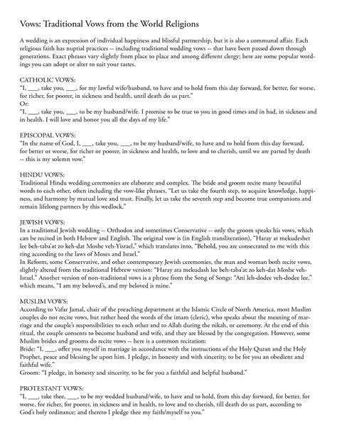 Non Denominational Wedding Ceremony Script   Best Wedding