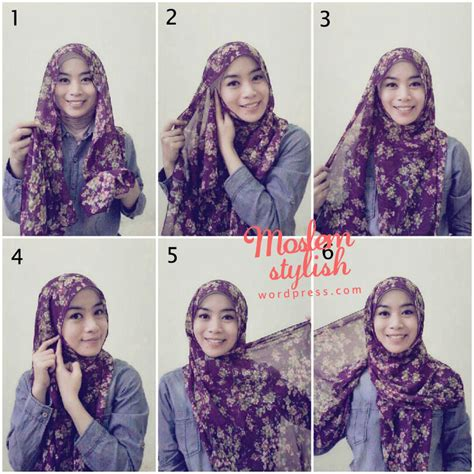 simple hijab tutorial style for beginners hijab tutorial for beginner novani cynantya