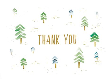 free printable thank you cards greetings island watercolor forest free thank you ecard greetings island