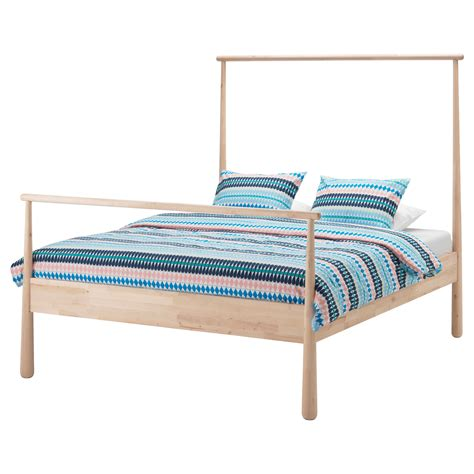 Standard King Size Bed Frame Dimensions Gj 214 Ra Bed Frame Birch Leirsund Standard King Ikea
