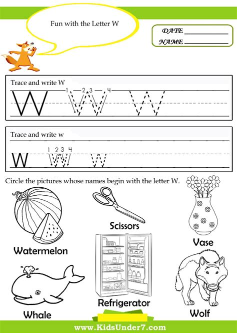 Letter W Worksheets by 28 Free Worksheets Letter W Printable