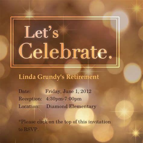 free retirement invitations templates free retirement invitations template best template