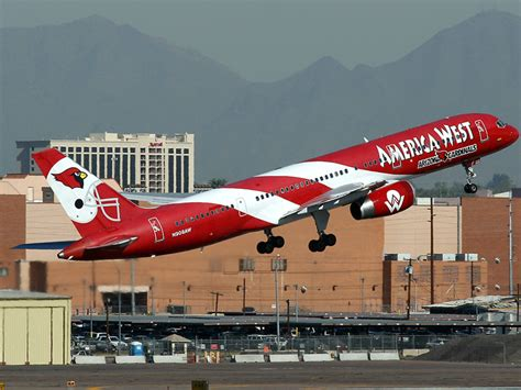 n908aw america west airlines boeing 757 200 at sky harbor intl photo id 10621