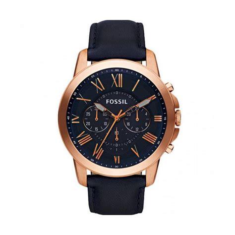 Jam Tangan Pria Fossil Leather Kulit Crono jual fossil fs4835 jam tangan pria biru tua