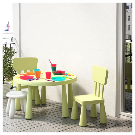 ikea childrens table mammut children s table in outdoor light green 85 cm ikea