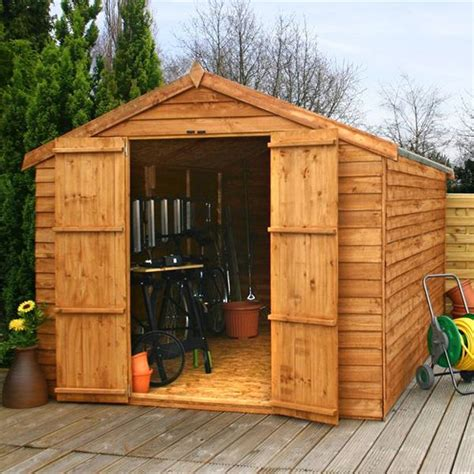 garden shed double door apex windowless wooden sheds