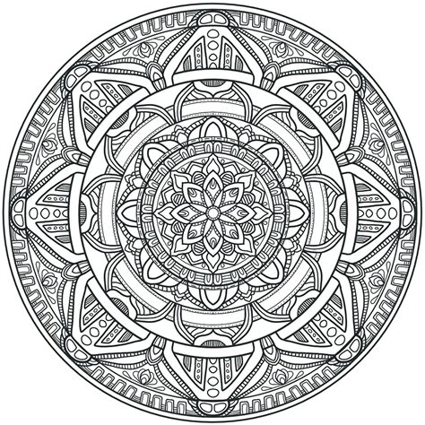 round mandala coloring pages more circles