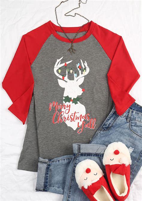 merry christmas yall reindeer baseball  shirt bellelily