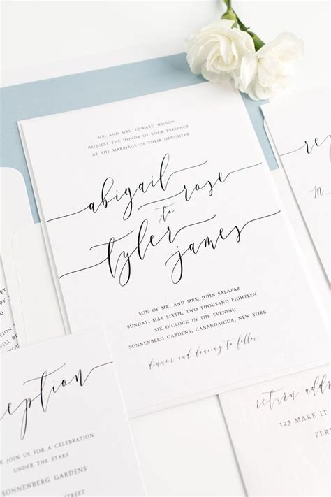 Blue Wedding Invitation Paper by 17 Best Ideas About Modern Wedding Invitations On