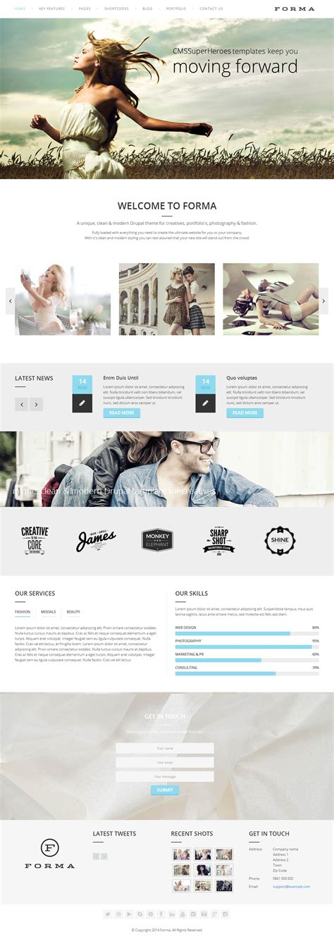 drupal themes responsive parallax free forma premium responsive parallax multipurpose drupal theme