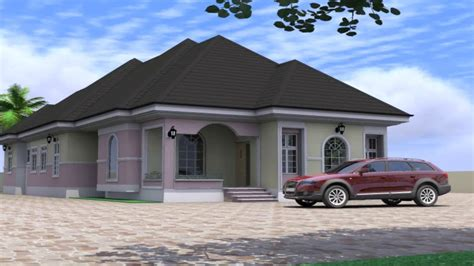 house designs floor plans nigeria 4 bedroom bungalow house design in nigeria youtube