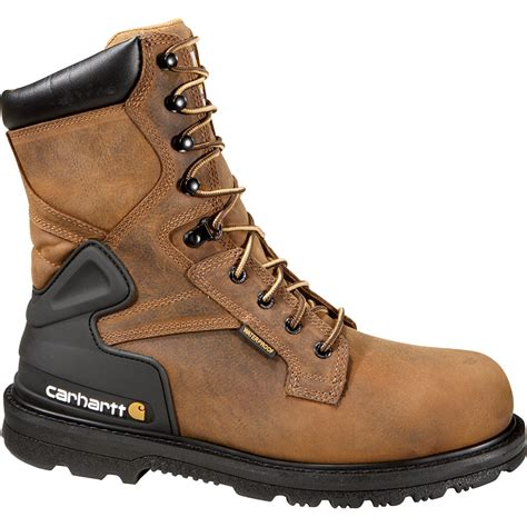 steel toe work boots carhartt s 8in waterproof steel toe work boots