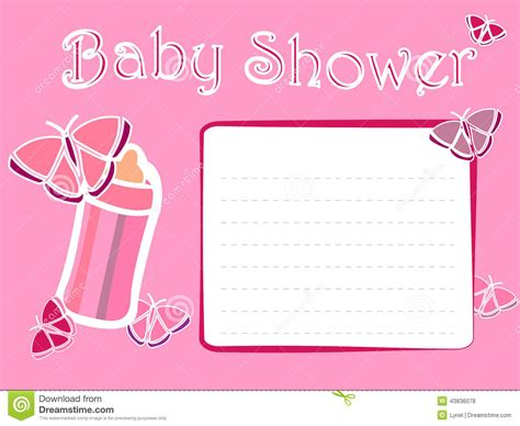 Free Baby Shower Card Template by Template Baby Shower Invitations Card For